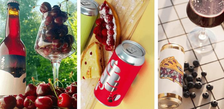exemples Sour beer en bouteilles