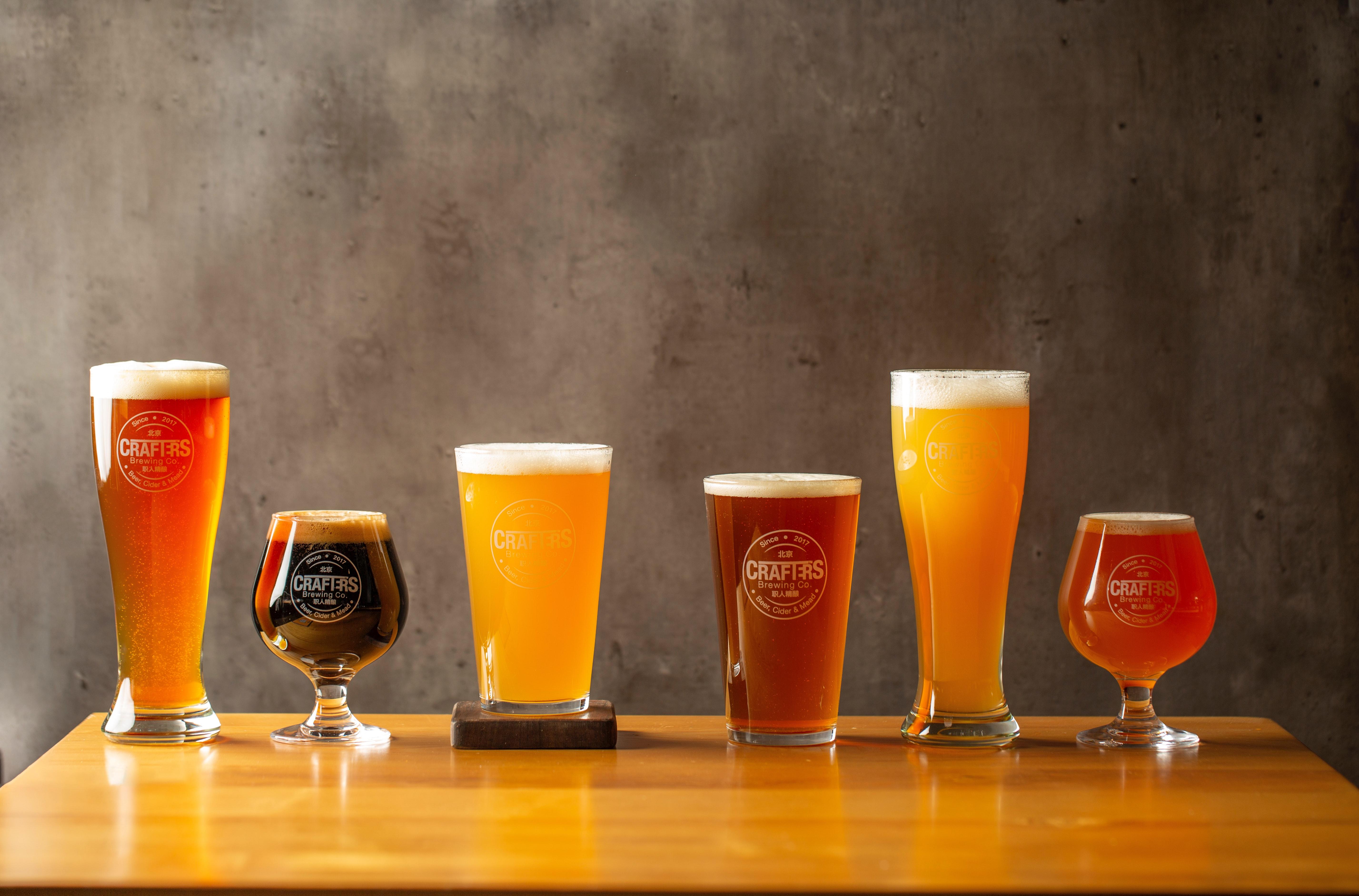 Multitude de saveurs et couleurs de bière