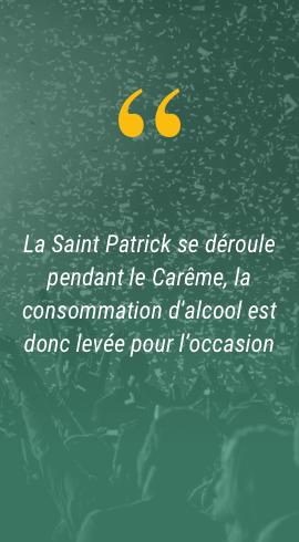 Info sur la St Patrick