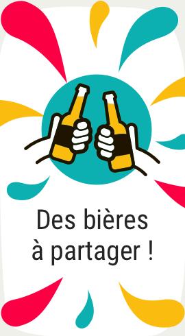 Des bières à partager