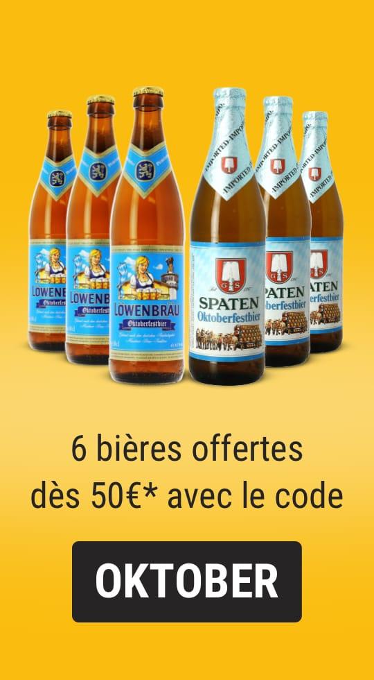 6 bières offertes Oktoberfest