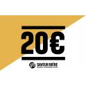 Chèque cadeau 20 euros