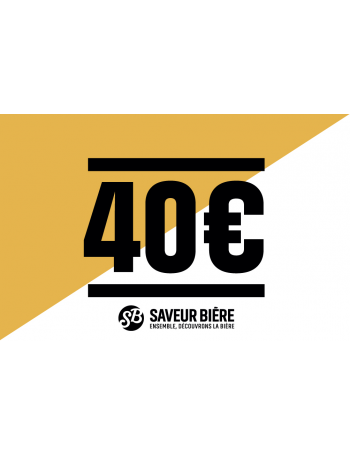 E-carte cadeau 40 euros