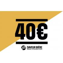 Chèque cadeau 40 euros