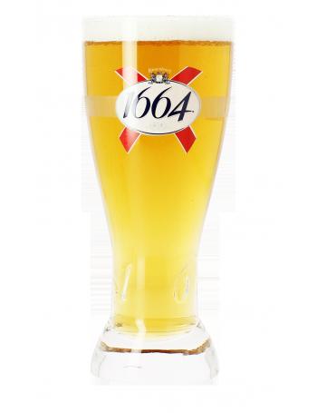 verre a biere 1664 givre