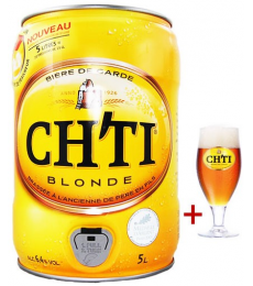 Fût 5L Ch'ti + verre