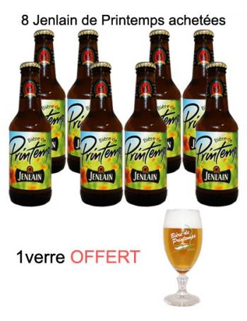 Lot 8 bières Jenlain Printemps + verre