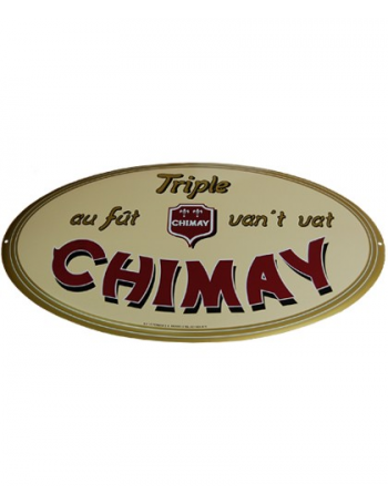 plaque publicitaire maill e chimay triple au f t van 39 t vat abbaye de scourmont belgique good. Black Bedroom Furniture Sets. Home Design Ideas