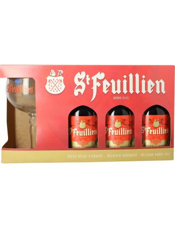 Coffret St Feuillien de Noël  (3 bières 1 verre)