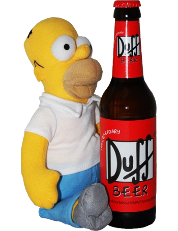 Homer Simpson + 1 Duff Beer - bouteille