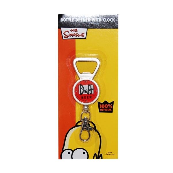 Porte clef duff beer avec horloge et ouvre bouteille for Porte qui s ouvre