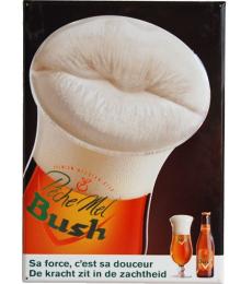 Plaque bière Pêche Mel Bush