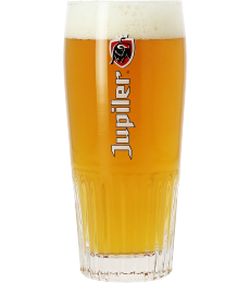 Jupiler 33cl ribbed glass with Red logo