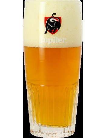 Verre Jupiler strié - Logo rouge - 25 cl