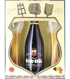 Coffret Kwak 1*75cl + 2 verres plats