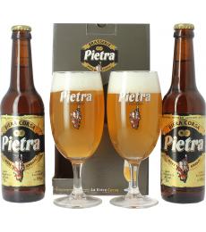 Pietra Gift Pack 2 Pietra bottles + 2 glasses