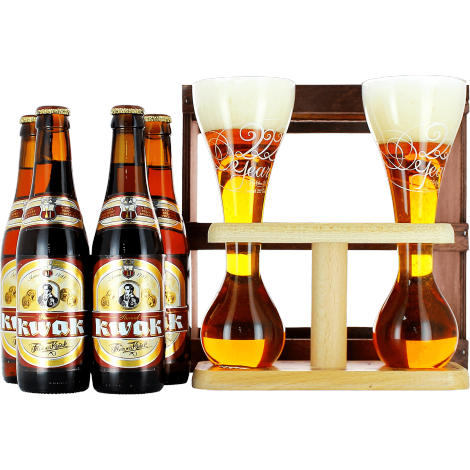 Read all 48 Reviews  sc 1 st  Saveur Bière & Kwak Gift Pack 4 beers + 2 glasses on their wooden base