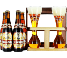 Kwak Gift Pack 4 beers + 2 glasses on their wooden base