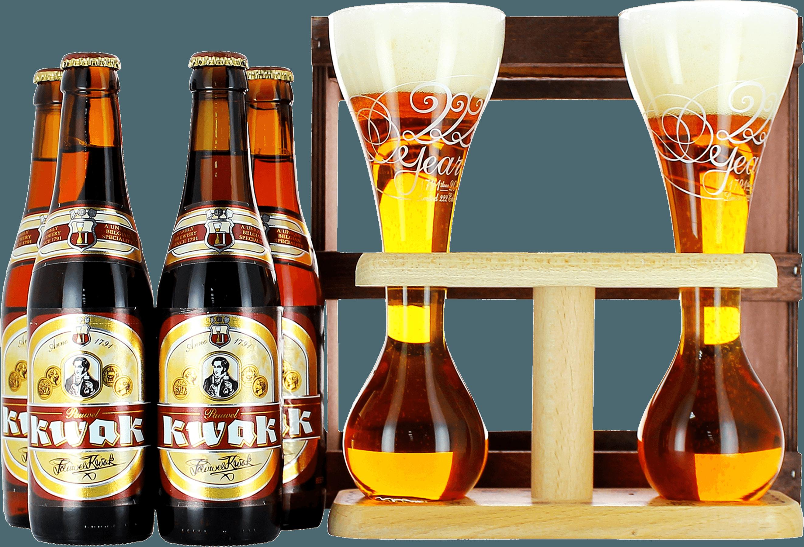 Pack Kwak con 4 cervezas + 2 vasos