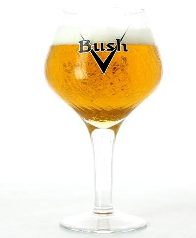 Verre Bush Effet Brisé - Typo Noir - 33 cl