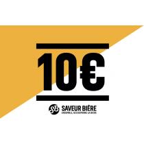 Chèque cadeau 10 euros