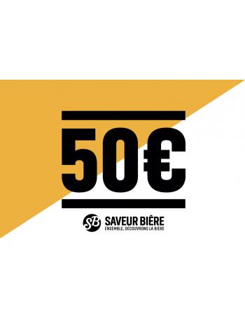 E-carte cadeau 50 euros