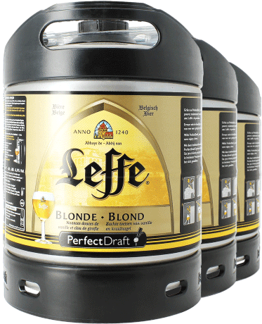 Leffe Blonde PerfectDraft 6-litre Barril - 3-Pack