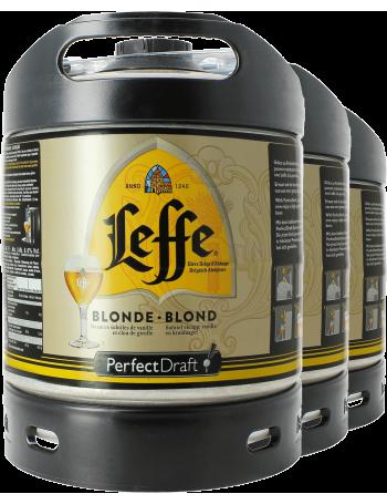 Pack 3 fûts 6L Leffe Blonde