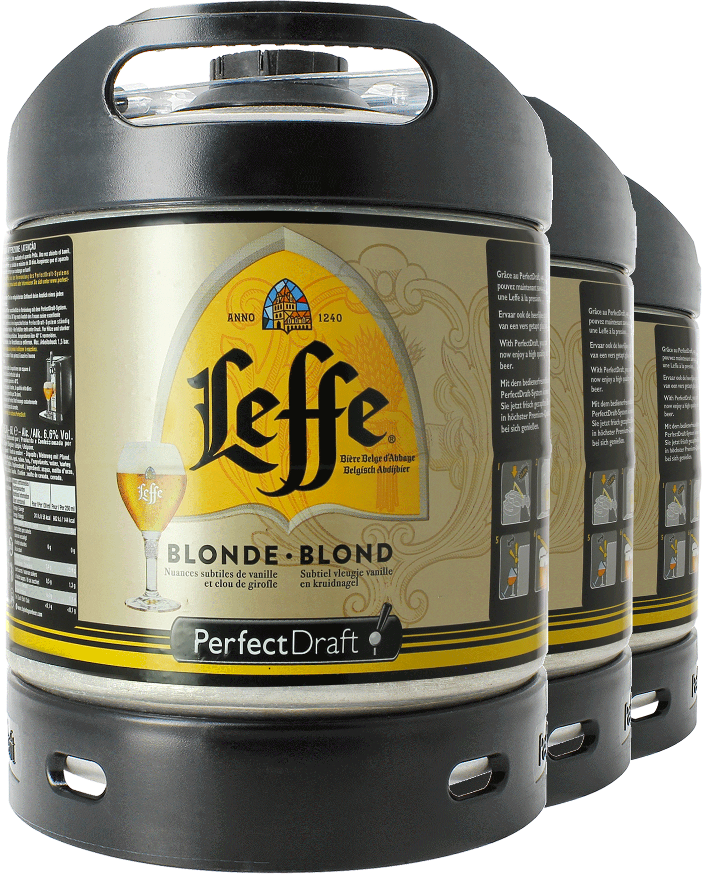 Barril 6 L Leffe Blonde PerfectDraft - Pack x3