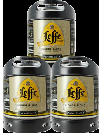 Leffe Blonde PerfectDraft 6-litre Keg - 3-Pack