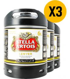 Pack 3 fûts 6L Stella Artois