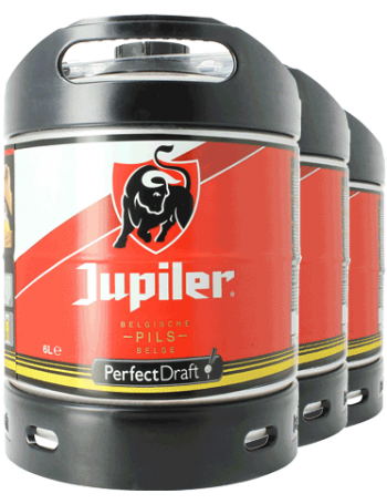 Jupiler Pils PerfectDraft 6-Liter Keg - 3-Pack