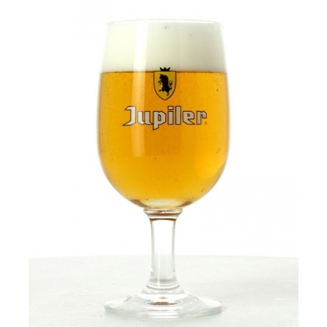 verre bi re jupiler logo jaune 25 cl verre pied. Black Bedroom Furniture Sets. Home Design Ideas
