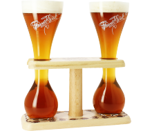 Duo Kwak Glasses with Wooden Base - 33cl