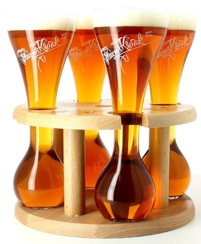 4 verres Kwak avec support