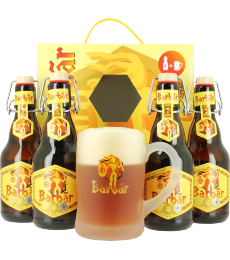 Coffret Barbar (4 bières, 1 verre)