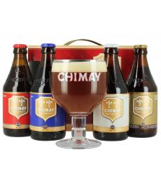 Coffret Chimay Quadrilogie (4 bières, 1 verre)