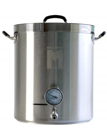Cuve de brassage MegaPot 8gal (30L) avec robinet et thermomètre