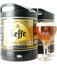 Pack 2 Fûts 6L Leffe blonde avec 2 verres