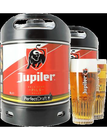 Pack 2 Fûts 6L Jupiler  avec 2 verres