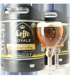 2 x Fûts 6L Leffe Royale avec 2 verres