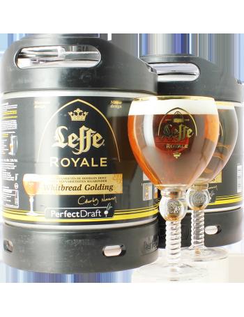 Pack 2 Fûts 6L Leffe Royale avec 2 verres