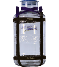 Big Mouth Bubbler plastic fermentor 6,5 gal (24,6 L) + harness