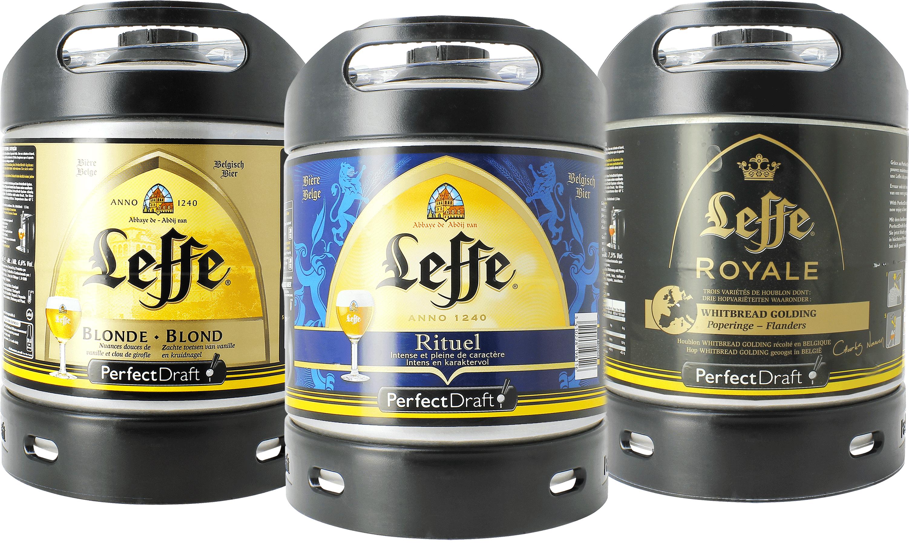 Leffe Blonde, Rituel & Royal PerfectDraft Barril - 3-Pack