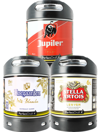 Hoegaarden, Stella & Jupiler PerfectDraft Keg - 3-Pack