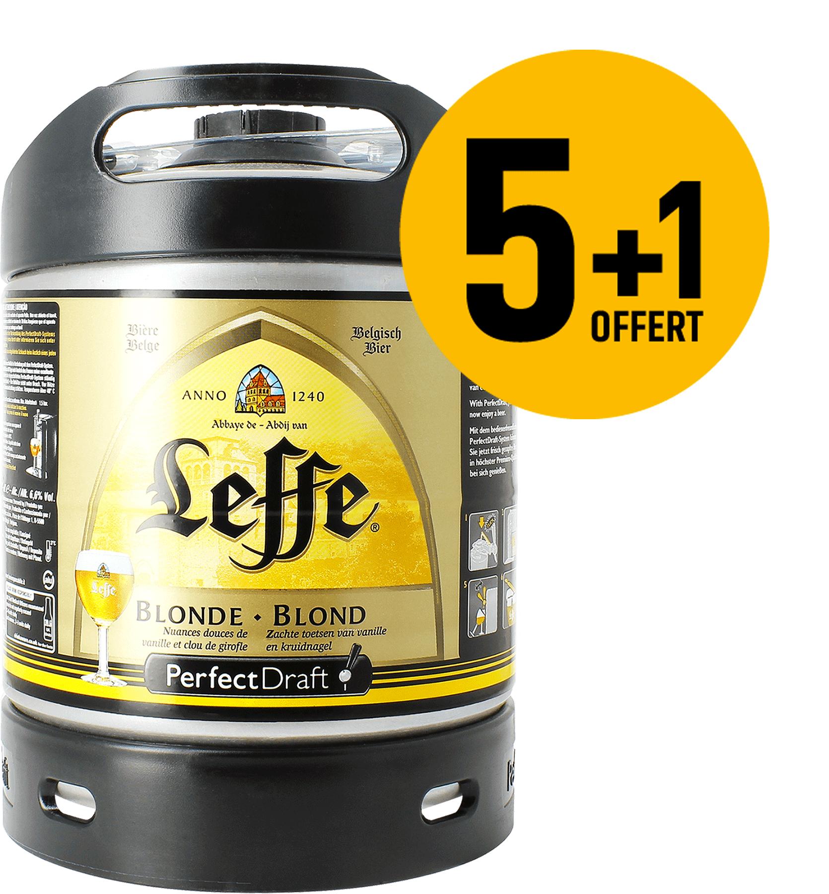 Leffe Blonde barril 6l. PerfectDraft - 5+1 GRATIS!