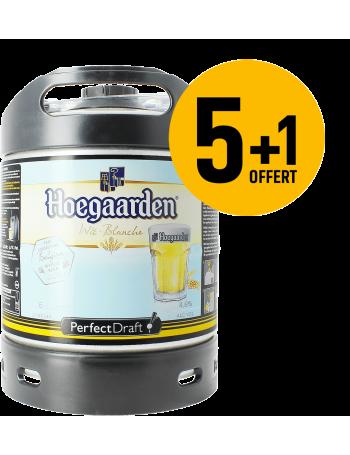Pack 5 fûts 6L de Hoegaarden + 1 Offert