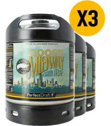 Pack 3 fûts 6L PerfectDraft Goose Midway Session IPA