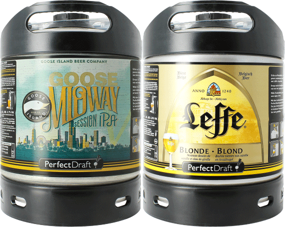 Leffe Blonde & Goose Island Midway PerfectDraft 6-litro Barril - 2-Pack
