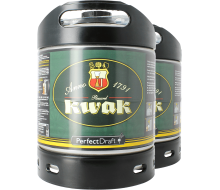 2 x Kwak PerfectDraft 6-litre kegs -  Multipack Savings
